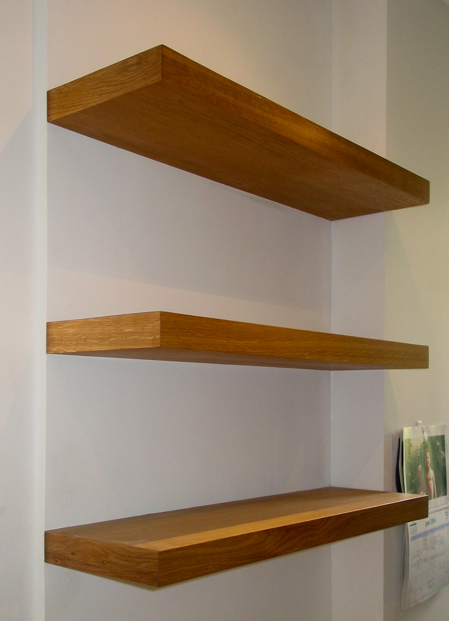 Floating Wood Shelves ~ Proline